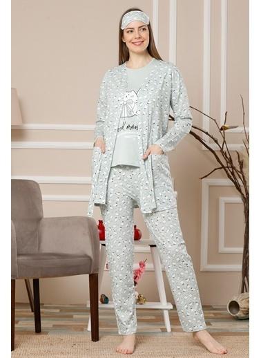 Akbeniz Pijama Takım Yeşil